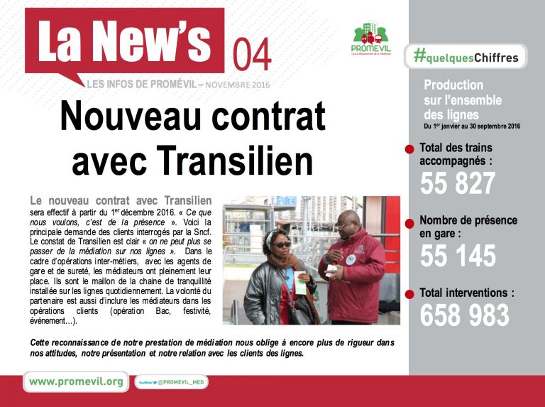 Newsletter Promévil N°4 - Novembre 2016