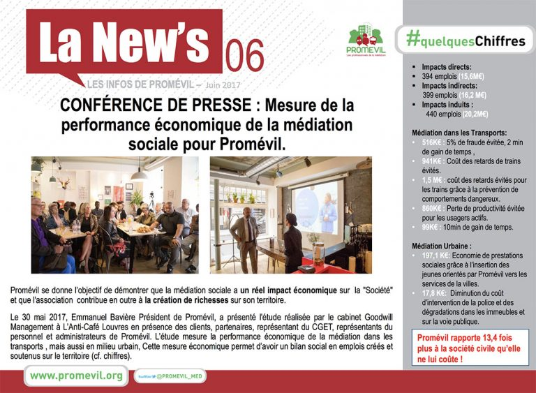 Newsletter Promévil N°6 - Juin 2017