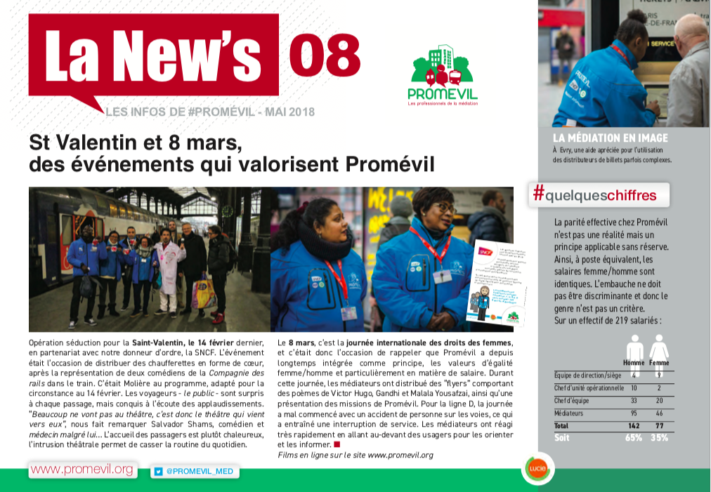 Newsletter Promévil N°8 - Mai 2018