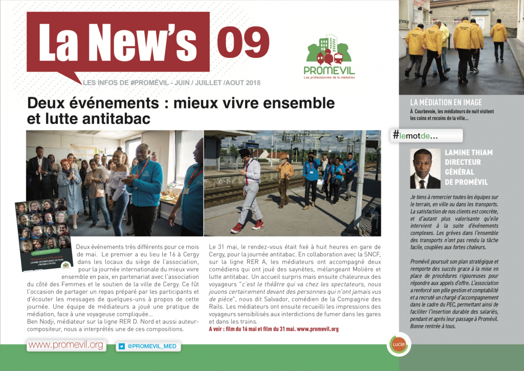 Newsletter Promévil N°9 - Été 2018