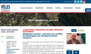 Promévil dans le journal Ondes Urbaines - Villes de France