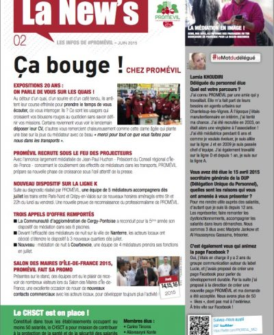 Newsletter Promévil N°2 - Juin 2015