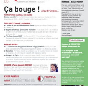 Newsletter Promévil N°3 - Juin 2016